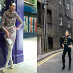 woman's fashion in London location