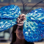 butterfly hat elegance for Longines royal ascot in London