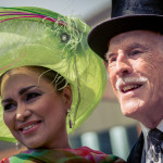 elegant british couple for longines royal ascot in London